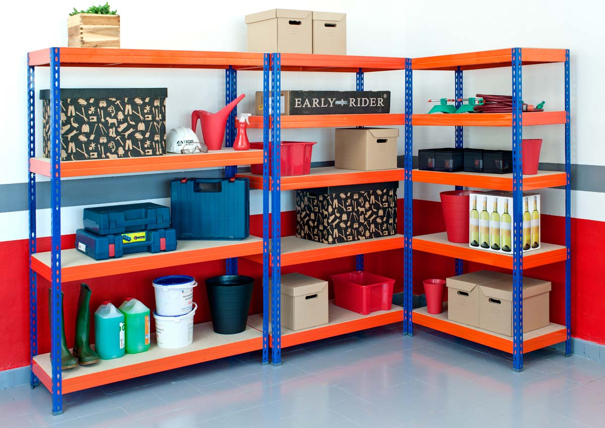 garage boltless shelving